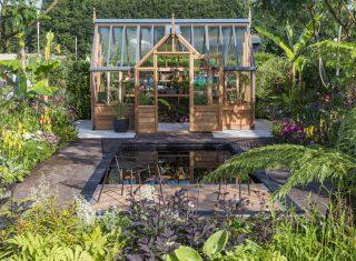RHS Flower Show Tatton Park, Cheshire - Gabriel Ash Greenhouse Garden, designed by Lilly Gomm © RHS, Neil Hepworth