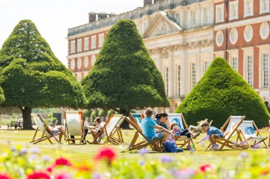Relaxing in the gardens of Hampton Court Palace © Courtesy of Historic Royal Palaces