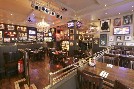 Music tour Hard rock upstairs ©HardcafeLondon