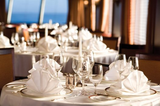 Restaurant at Silver Explorer © Photo courtesy of Silversea Cruises