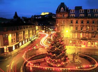 Royal Hotel, Oban, Scotland (Strathmore Hotels) - Exterior at Christmas
