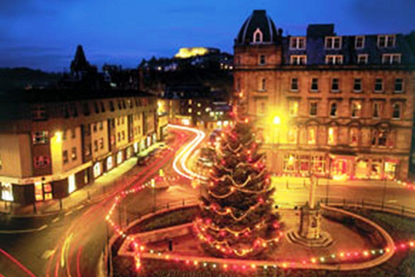 Royal Hotel, Oban, Scotland (Strathmore Hotels) - Exterior at Christmas