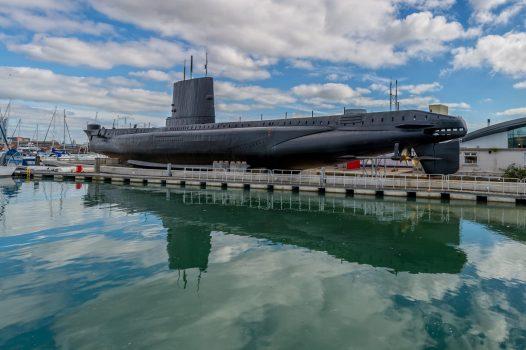 Royal Navy Submarine Museum, Gosport, Hampshire - Second World War-era submarine HMS Alliance