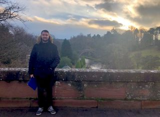 Scottish Borders, Scotland - James infront of Brig o Doone, made famous from Robert Byrne poem