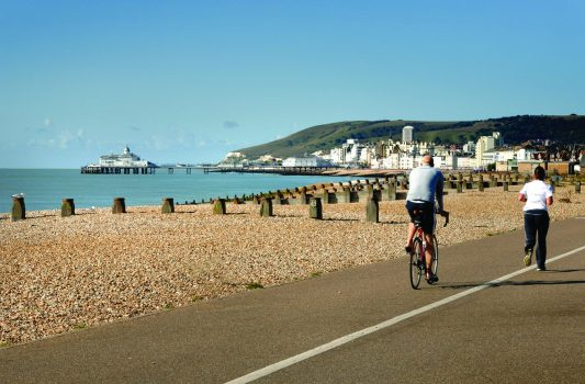 Cycling on the seafront at Eastbourne ©Visit Eastbourne