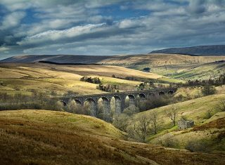 Settle to Carlisle Railway, Yorkshire - Viaduct and countryside