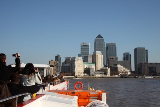 London sightseeing on the Thames, river cruise