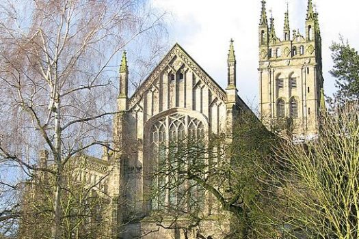 St Mary's Church, Warwick, Warwickshire - St Mary's from College Gardens