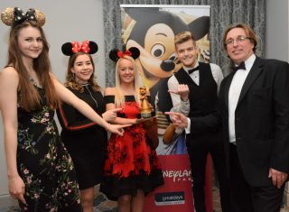 Celebrating winning Disneyland Paris' Top Performing Leisure Groups Partner award for 2017 are the Greatdays Disney team (l-r) Natasha Beattie, Lucy Hoskins, Megan Evans (team manager, Daniel Walsh and Paul Beaumont