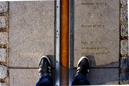 Standing-on-the-Meridian-Line-Greenwich-VG002-©National-Maritime-Museum