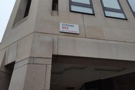London - Strand street sign