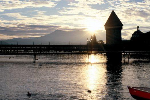 Switzerland, Lake Lucerne. swiss alps NCN