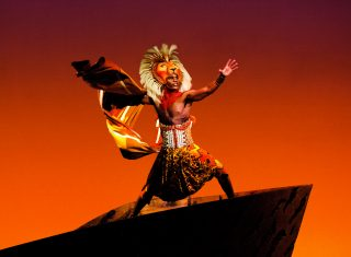 The Lion King London - Andile Gumbi as 'Simba' ©Photo by Johan Persson