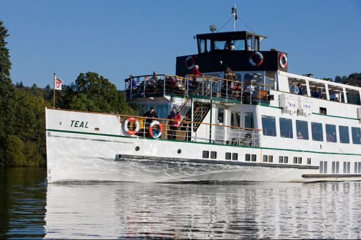 The Lady Teal cruise boat on Lake Windermere