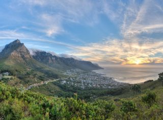 Table mountain, Cape town, South Africa, Sunset Landscape image