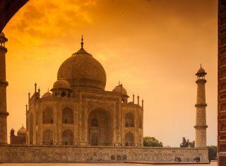 The Taj Mahal in Agra, India. Worldwide Travel
