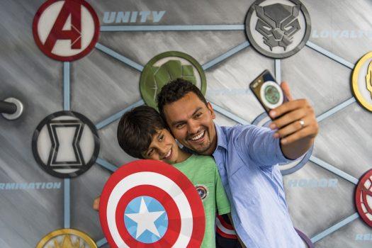 Taking a Selfie during MARVEL Summer of Super Heroes ©Disneyland Paris
