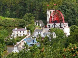 The Great Laxey Wheel from the Manx Electric Railway