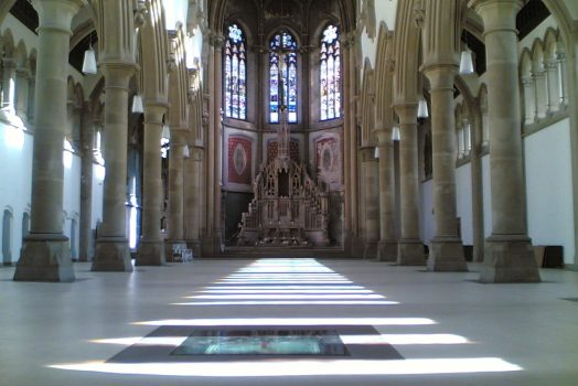 The Monastery, Gorton, Manchester - The Great Nave - Sunday lights (NCN-1)