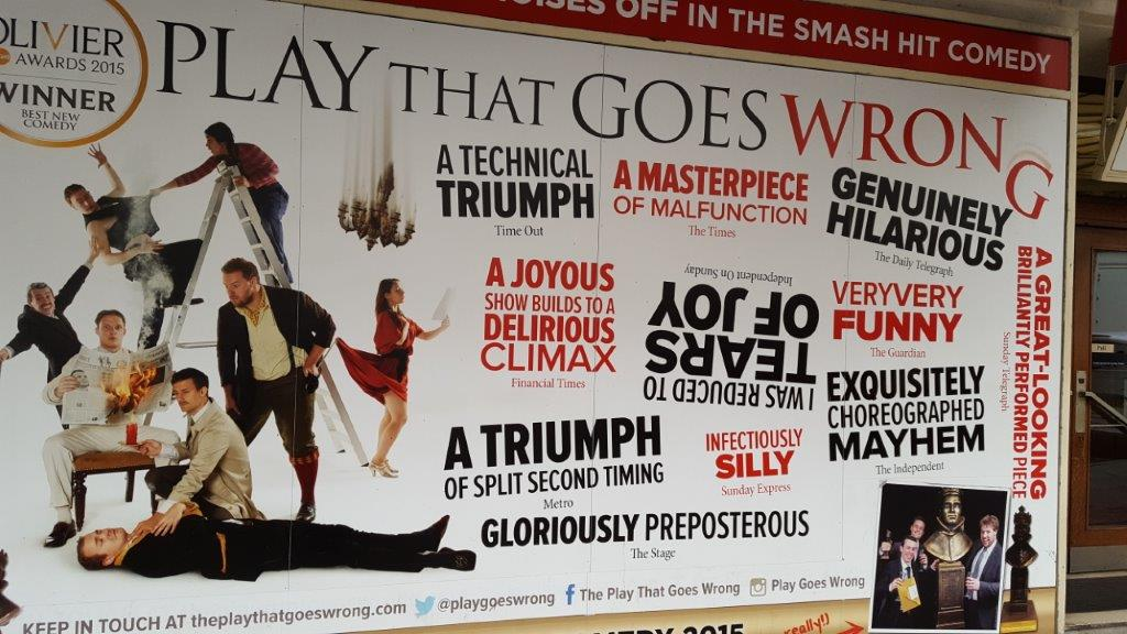 The Play That Goes Wrong at the Duchess Theatre London