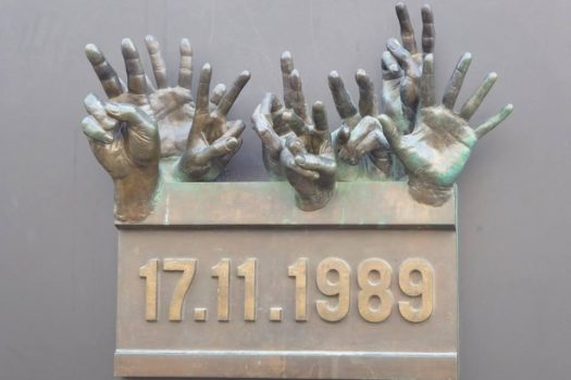 Velvet Revolution Memorial Prague Communism tour, Czech (NCN)