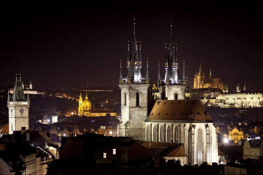 Czech, Prague, View of Church of Our Lady before Týn from Powder Tower, Prague ©©CCCR CzechTourism. Martin Mařák