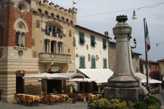 Village Square, Montecatini Alto - Tuscany, Florence Italy