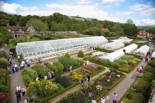 West Dean Gardens Victorian glasshouse in Walled Garden ©West Dean Gardens