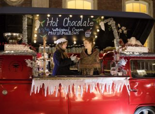 Worcester Christmas Markets Worcestershire Southwest Hot chocolate 2016 © Andy Burton Worcester City Council