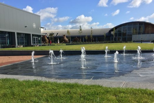 Fountain outside World of Wedgwood
