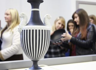 Vase on display at World of Wedgwood