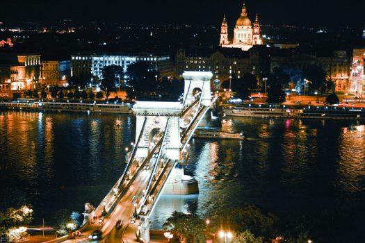 Budapest Hungary Chain Bridge Group Travel