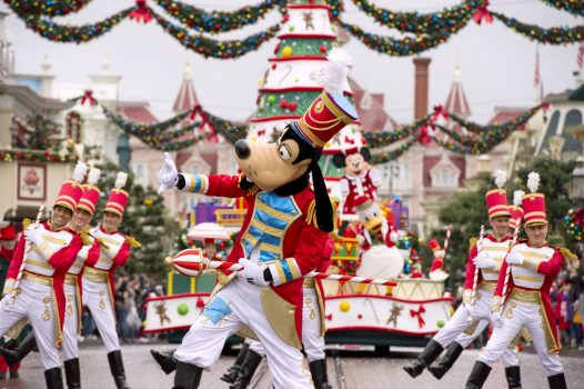 Goofy in the Disney Christmas Parade
