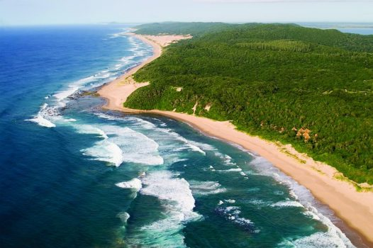 South Africa tour A birds eye view of Thonga beach, Zululand in South Africa