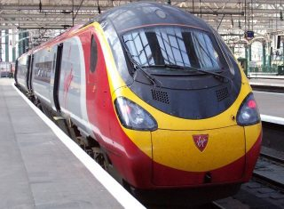 Virgin train in station